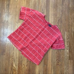 Roolee Window Pane Button Back Shirt